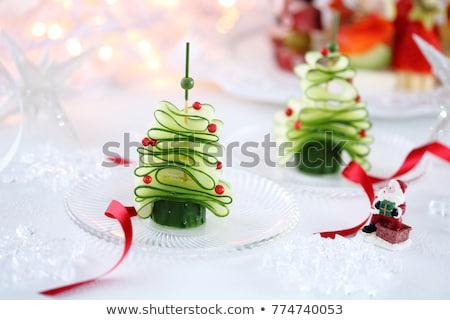 Aperitivo vegetales Navidad vacaciones creativa saludable Foto stock © M-studio