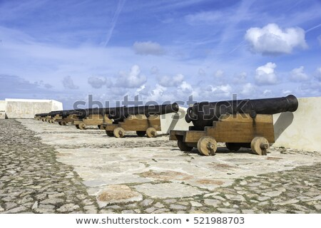 old rusty cannons on walls at Sagres Portugal Stock photo © compuinfoto