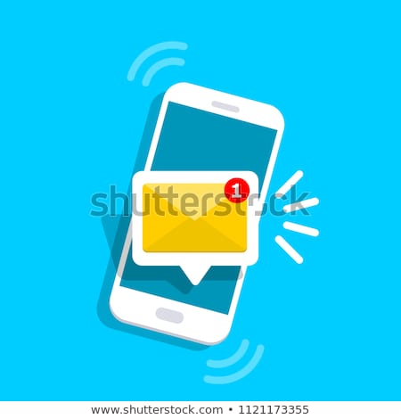 SMS receive notification on smartphone screen Stock photo © stevanovicigor