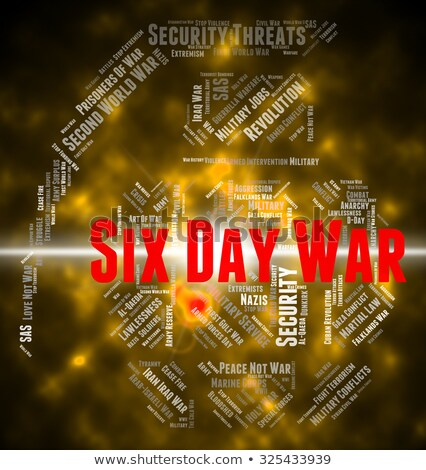Six Day War Indicates Arab Israeli And Egypt Stock photo © stuartmiles