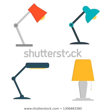table lamp flat stock photo © andrei_