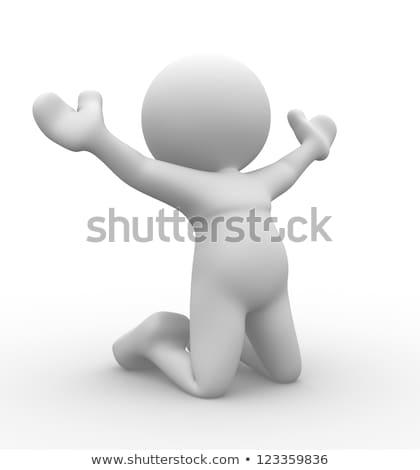 Isten · férfi · fehér · köntös · kezek · kiemelt - stock fotó © orla