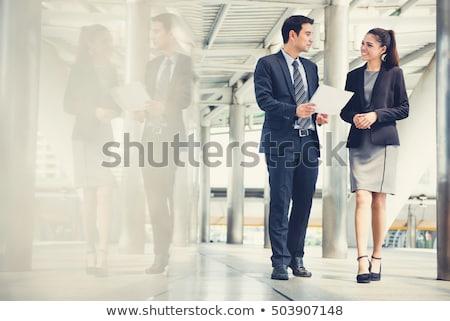 Female Asian business people Stock photo © szefei