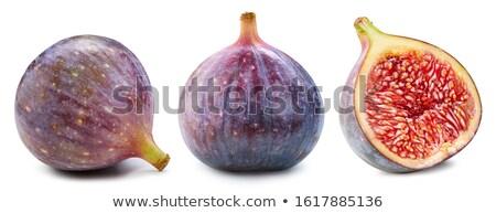 świeże figa cięcia żywności fioletowy zdrowych Zdjęcia stock © Digifoodstock
