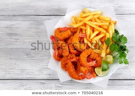 karides · gıda · arka · plan · restoran · akşam · yemeği - stok fotoğraf © m-studio