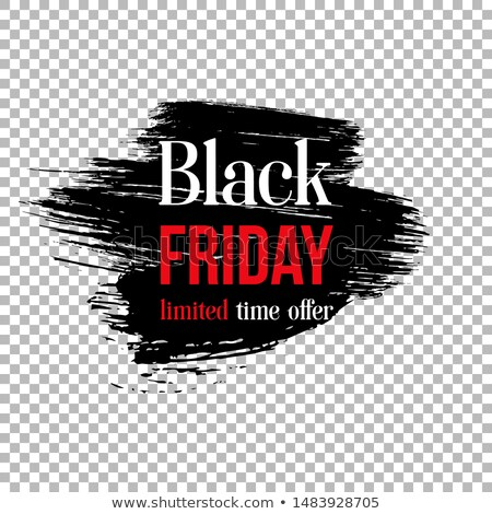 black friday sale banner with black paint brush stroke Stock photo © SArts