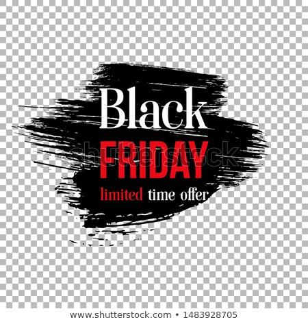 Black friday vásár szalag fekete ecset festék Stock fotó © SArts