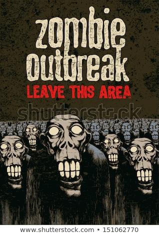 Illustration Halloween Zombie Tod verrückt formatieren Stock foto © yuriytsirkunov