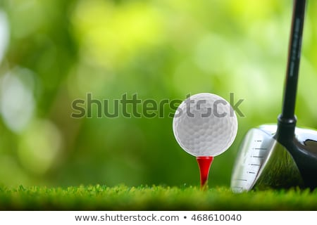 Сток-фото: Golf Teeing Off With A Driver