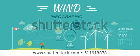 Wind Infographics. Windmills. Meteorology Windsock Stock photo © robuart