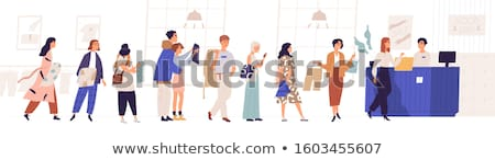 Shop Assistant Isolated on White. Seller Character Stock photo © robuart