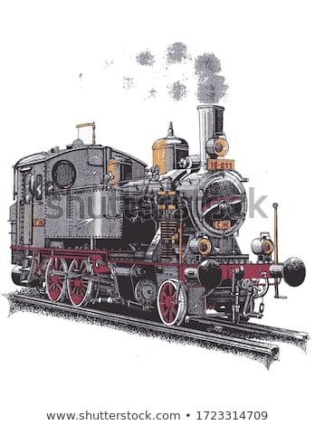 Gőz gép dizájnok három színek illusztráció Stock fotó © bluering