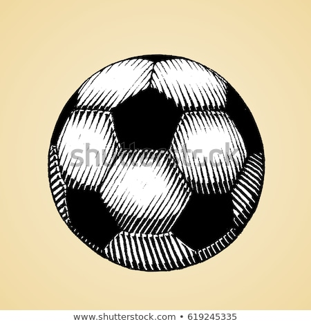 Ink Sketch of a Soccer Ball with White Fill Stock photo © cidepix