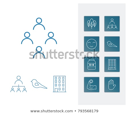 Smile, emotion, relations and tablet icons Stock photo © ahasoft