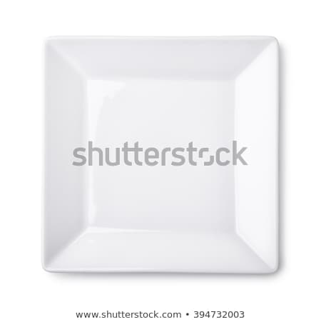 modern white square plate stock photo © digifoodstock