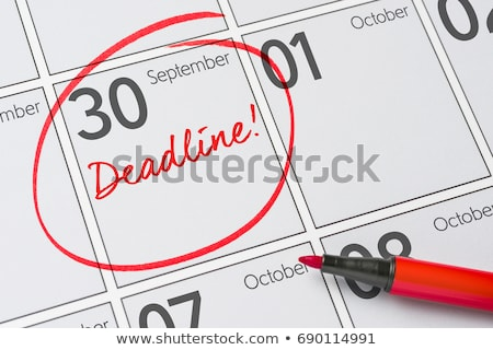 Save the Date written on a calendar - September 30 Stock photo © Zerbor