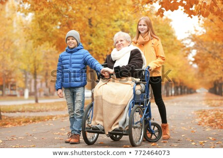 grandparents in a wheelchair Stock photo © adrenalina