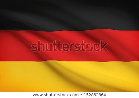 Włókienniczych banderą czerwony czarny złota Zdjęcia stock © kb-photodesign