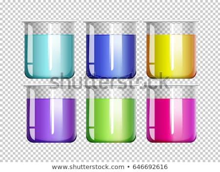 шесть красочный жидкость иллюстрация фон искусства Сток-фото © bluering