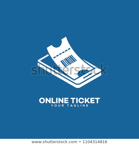 Vector concept of book online tickets. Stock photo © curiosity