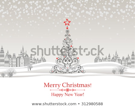 christmas card with place for your text stock photo © orson