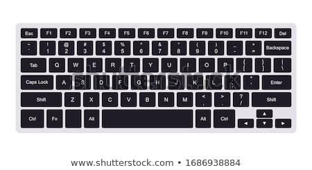 vektor · számítógép · billentyűzet · gomb · tér · ikon · részletes - stock fotó © kayros