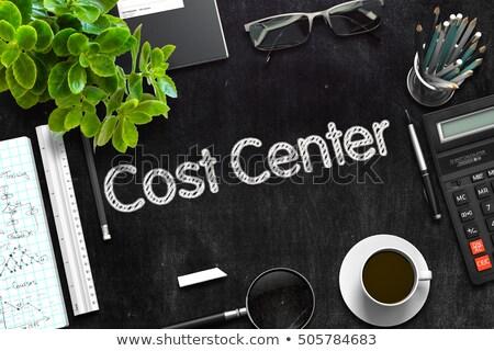 コスト センター 黒板 オフィス 緑 文字 ストックフォト © tashatuvango