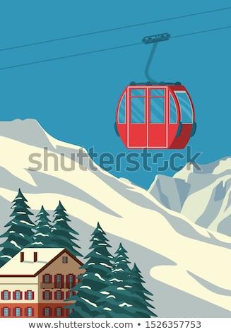 スキーヤー スキー アルプス山脈 1泊 スポーツ 雪 ストックフォト © wavebreak_media