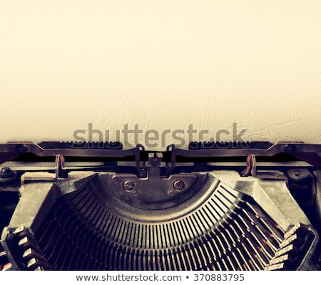 Stock photo: typewriter close up