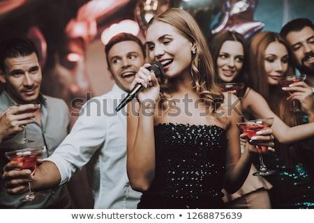Erkek şarkıcı şarkı söyleme gece kulübü adam Stok fotoğraf © wavebreak_media