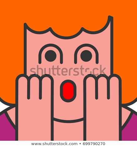 Oh my god woman pop art style. OMG girl in fear. exclamation is  Stock photo © MaryValery