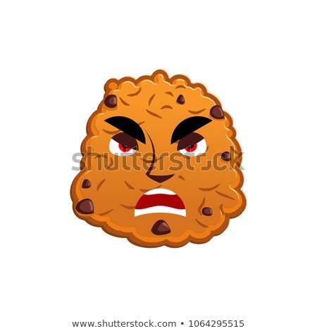 Cookies enojado galleta emoción agresivo alimentos Foto stock © popaukropa