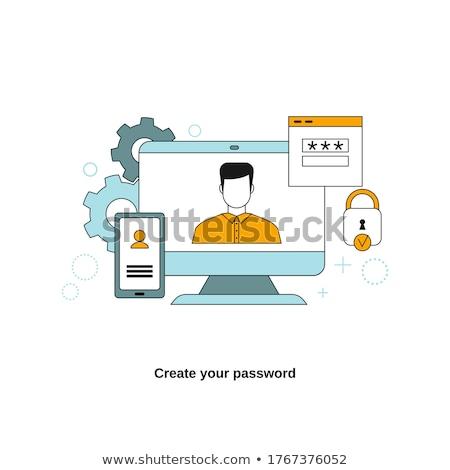 Witte inloggen sjabloon ontwerp website app Stockfoto © SArts