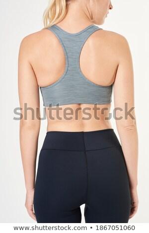 Grijs eenvoudige beha omhoog geïsoleerd Stockfoto © sapegina