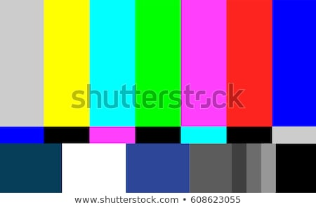 no signal tv test pattern vector television colored bars signal introduction and the end of the tv stock photo © pikepicture