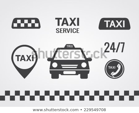 taxi car light sign isolated vector illustration stock photo © maryvalery