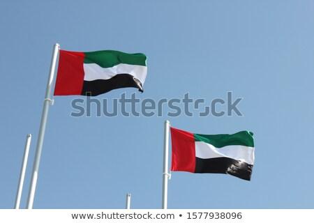Объединенные Арабские Эмираты флаг карта мира 3d иллюстрации путешествия Сток-фото © Harlekino
