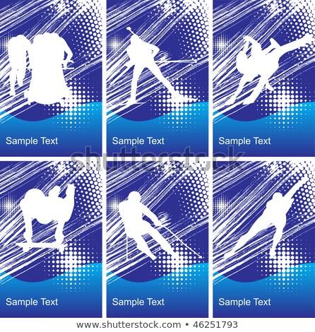 Snelheid schaatsen creatieve gezondheid Stockfoto © Fisher
