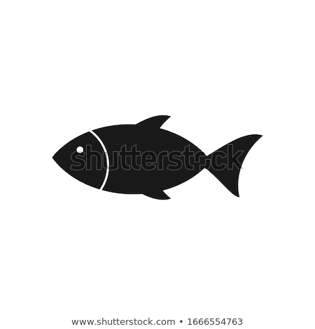 Meat vector - fresh sea fish icon. Fresh flat meat icon. Stock photo © MarySan