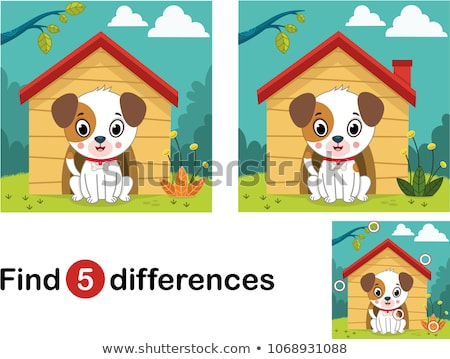 Trovare differenze cane gioco bambini compito Foto d'archivio © Olena