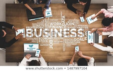 üzlet felirat kék információ fehér posta Stock fotó © fresh_7135215