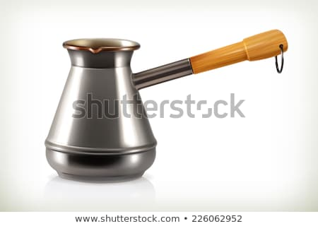 Cezve for coffee in 3D, vector illustration. Stock photo © kup1984