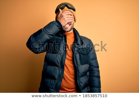 Man laughing,  face covered with snow Stock photo © IS2