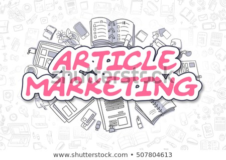 Stock photo: Article Marketing - Cartoon Magenta Word. Business Concept.