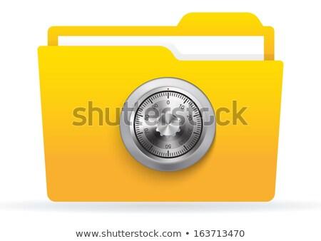 cijferslot · clipart · afbeelding · eps · veiligheid · teken - stockfoto © vectorworks51
