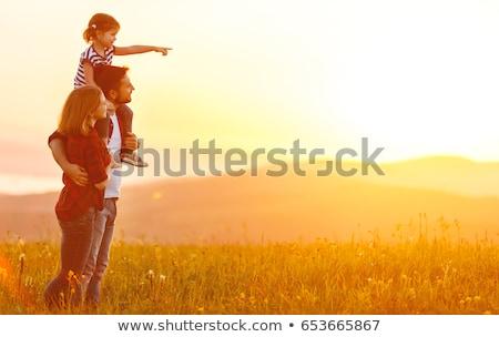 Children walking in field Stock photo © IS2