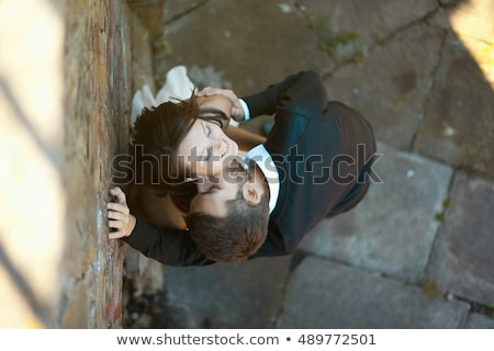Bride leaning to wall. Stock photo © IS2