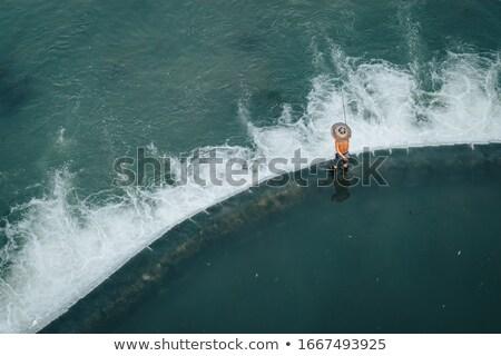 男 釣り 川 古代 フェニックス 町 ストックフォト © stephkindermann