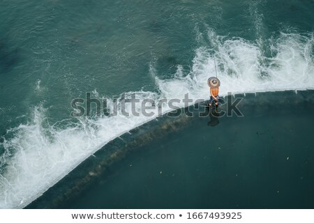 agua · ciudad · China · vista · barco · hombre - foto stock © stephkindermann