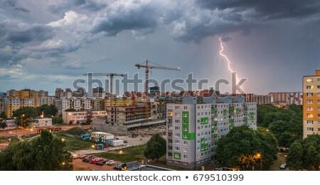 Huisvesting veel nacht storm stad Stockfoto © Kayco